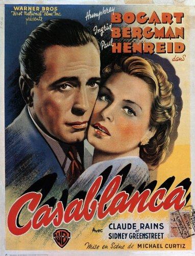Bergman Movie Poster - Casablanca Poster Movie B 11x17 Humphrey Bogart Ingrid Bergman Paul Henreid Claude Rains