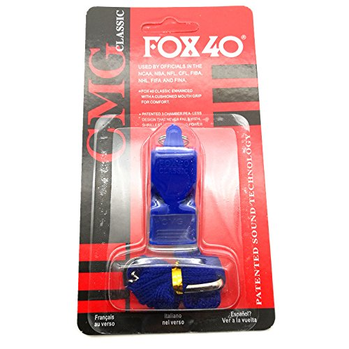 Tepathip Fox 40 Classic CMG Safety Whistle Lanyard Referee-Coach, Safety Alert, Survival (Classic Pool Tile)