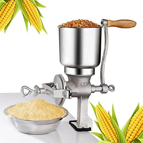 Premium Quality Cast Iron Hand Crank Manual,Corn Wheat Grinder Big Hopper Grain Grinder Manual Home Commercial,Grind Soybean, Mill Grinder, Grain Mill, Nuts, Multigrain