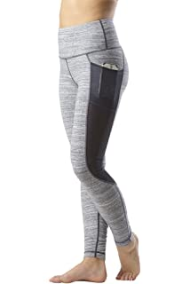 e71af8d423cb3 Yogalicious High Waist Mesh Leggings with Phone Pocket - Tummy Control Yoga  Pants