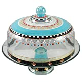 Golden Hill Studio Cake Dome Hand Painted in the USA by American Artists-Mosaic Carnival Collection