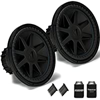 Kicker 44CVX154 CompVX 15 Subwoofers Bundle Dual 4-Ohm Voice Coils for wiring to a 1-ohm monoblock amplifier