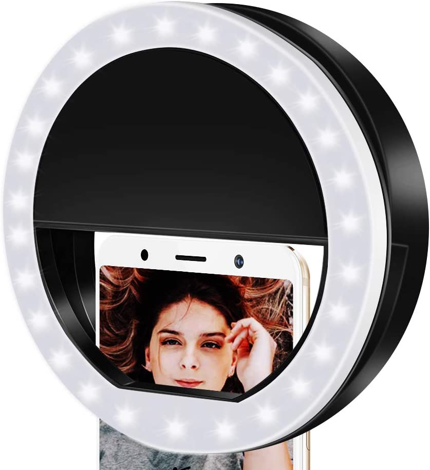Ring Lights LED Circle Light Cell Phone Laptop Camera Photography Video Lighting Clip On Rechargeable Photo Lamp