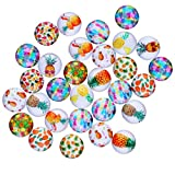 HAUTOCO 200pcs 10mm Glass Cabochons Round Clear