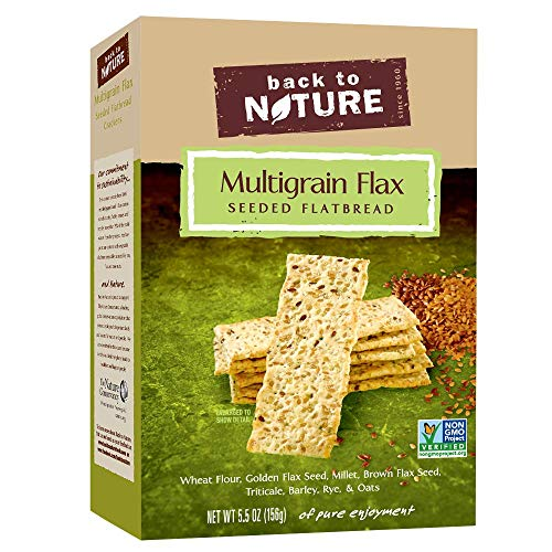 Back to Nature Non-GMO Multigrain Flax Seed Crackers, 5.5 Ounce