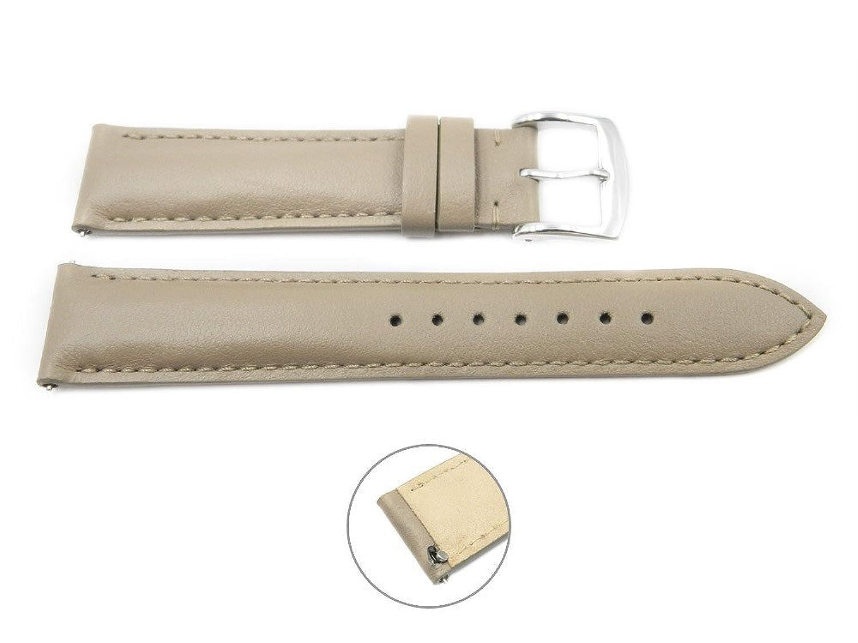 クイックリリース18 mmトープレザーSmooth Watch Band – iterchangable Womens Watchストラップ  B01MTCY6LZ
