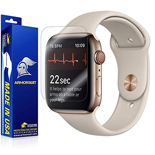 ArmorSuit Apple Watch Series 4 Screen Protector (44mm) + Full Body Skin MilitaryShield Full Skin + Compatible with Apple Watch Series 4 (44mm) - HD Clear Anti-Bubble