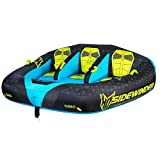 HO Sports Sidewinder 3-person Towable Made from NanYa 100% Virgin PVC for Unmatched Durability (Blue/Multi)