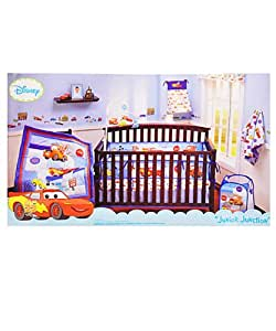 Disney Baby Cars Junior Junction 4-piece Crib Bedding Set
