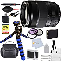 Fujifilm 18-135mm f/3.5-5.6 R LM OIS WR (White Box) International Version (No Warranty) Bundle includes: 12 Gripster Tripod + Extended Life Replacement Battery + 16GB Sandisk Extreme SD & More