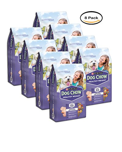PACK OF 8 - Purina Dog Chow Healthy Weight Dog Food 4 lb. Bag by Purina Dog Chow