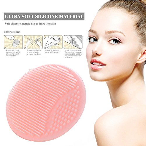 Mild Cleansing Mousse - Silicone Face Cleanser, Facial Cleansing Pads, Silicone Face Scrubbers, Manual Facial Cleansing Brush - Massage,Blackheads Removing, Exfoliating, For Sensitive, Delicate, Dry Skin (Pink)