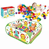 SIMPLE & Co Ball Pool Outdoor Play Tent Pit Ball Pool and Children/baby Indoor & Outdoor fold-able ball pool toy includes 40 colorful Balls