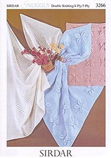 e86d001b0f58 SIRDAR 3266 KNITTING PATTERN   Baby blankets and shawl  Amazon.co.uk ...