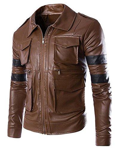 Motorcycle Jacket Brown - 8
