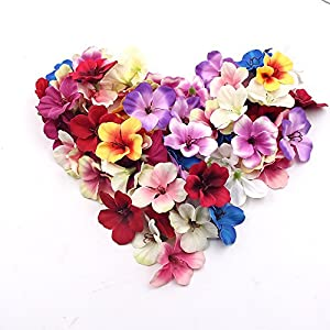Flower Head in Bulk Wholesale for Crafts Mini Silk Orchid Flowers Artificial DIY Party Festival Decor Wedding Home Decoration Orchis Cymbidium Fake Flowers Plants 100pcs 5cm 73