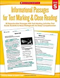 img - for Informational Passages for Text Marking & Close Reading: Grade 5: 20 Reproducible Passages With Text-Marking Activities That Guide Students to Read Strategically for Deep Comprehension book / textbook / text book