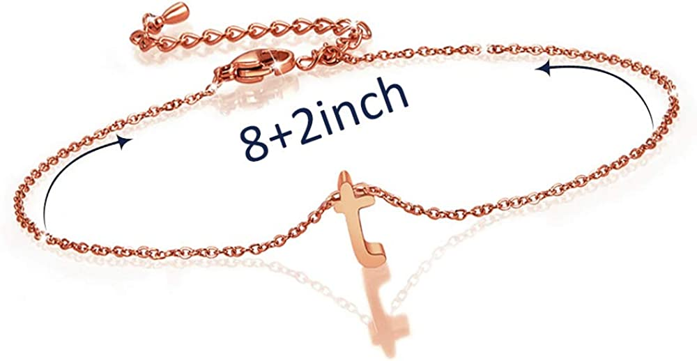 BOCHOI Initial Anklet for Women Teen Girls Girlfriend Letter Alphabet Anklet Stainless Steel Mothers Day Birthday Jewelry Gifts Foot Chain Ankle Adjustable