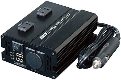 メルテック DCDCインバーター 静音タイプ 3way(USB&コンセント&アクセサリーソケット) DC24V コンセント2口150W USB2口4A DC12V1口60W Meltec HDC-150