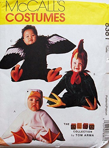 McCall's 8381 Toddler Duck Rooster Condor Costume Sewing Pattern Tom Arma Halloween Size 1/2