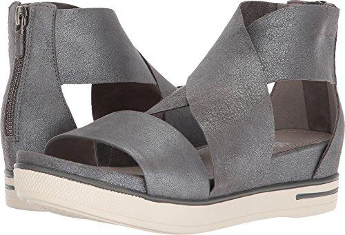 Eileen Fisher Womens Sport Silver Metallic Suede Sandal - 6.5 (Metallic Suede Footwear)