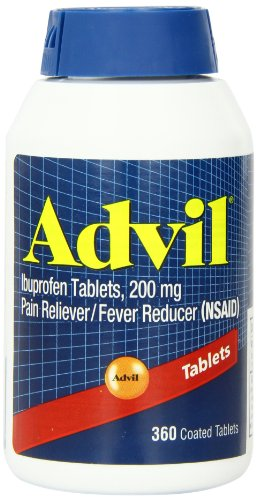 Advil Pain Reliever / Fever Reducer, 200mg (360 (Advil Coated Tablets)