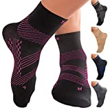 TechWare Pro Ankle Brace Compression Socks - Plantar Fasciitis Pain Relief Sock with Arch Support. Foot Sleeve Relieves Achilles Tendonitis & Heel Pain. Women & Men. Everyday Use & Injury Recovery