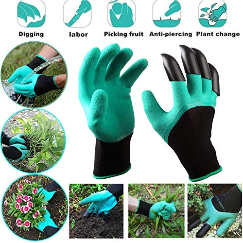 Potato Grow Bags, 3 Pack 5, 7 & 10 Gallons Garden Planting Bags, Vegetables Planter Bags, Non-Woven Aeration Fabric Pot Growing Bags with Handle and Access Flap with a Pair of Gardening Genie Gloves