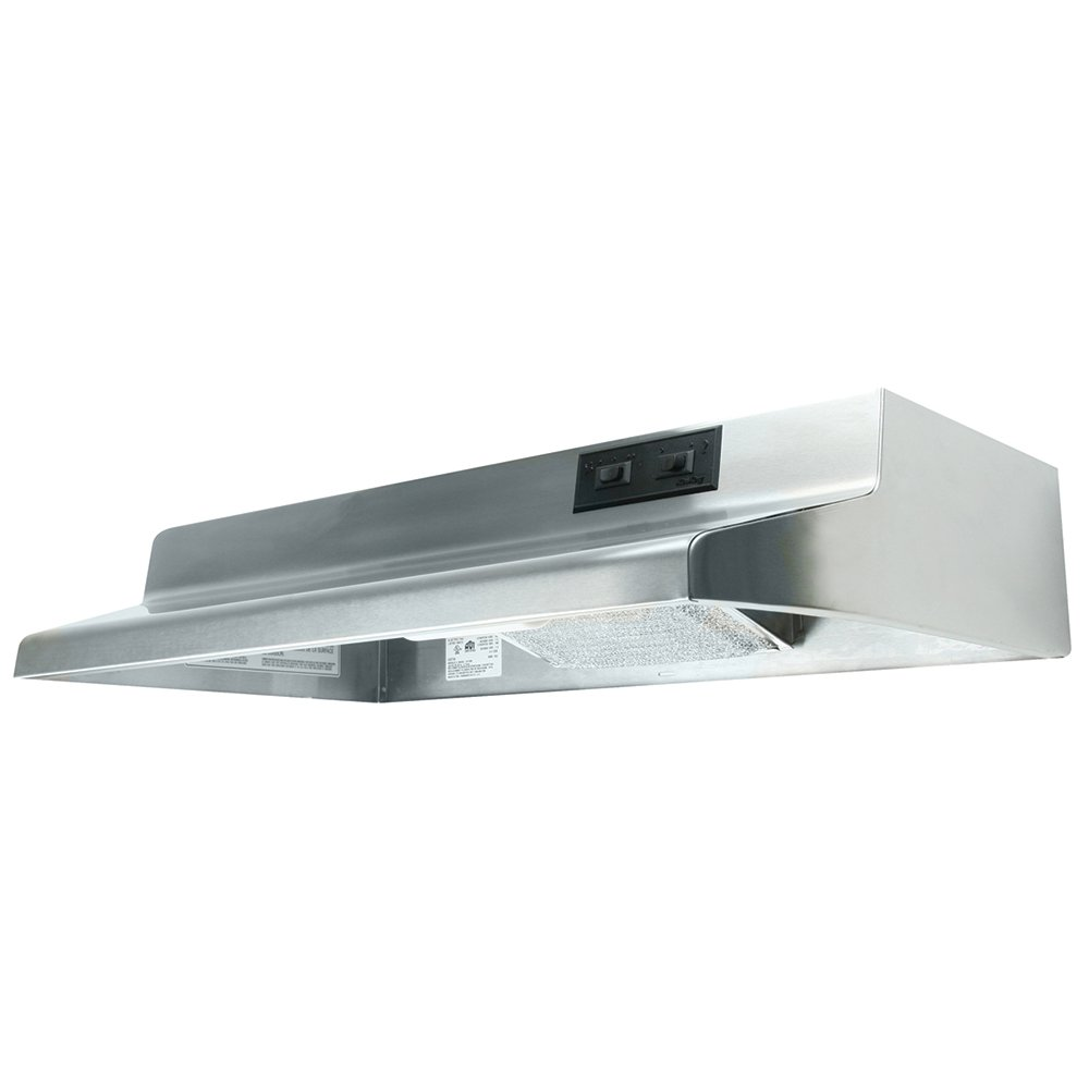 Air King AX1308 Advantage X Series Under Cabinet Range Hood with 2-Speed Blower and 160-CFM, 6.5-Sones, 30-Inch Wide, Stainless Steel Finish