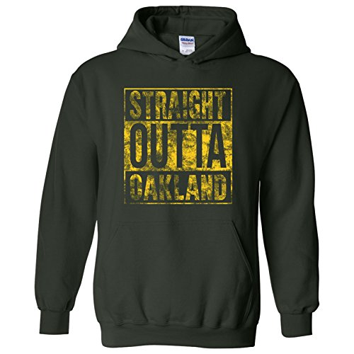- UGP Campus Apparel Straight Outta Oakland - California Baseball Hometown Pride Hoodie - 2X-Large - Forest