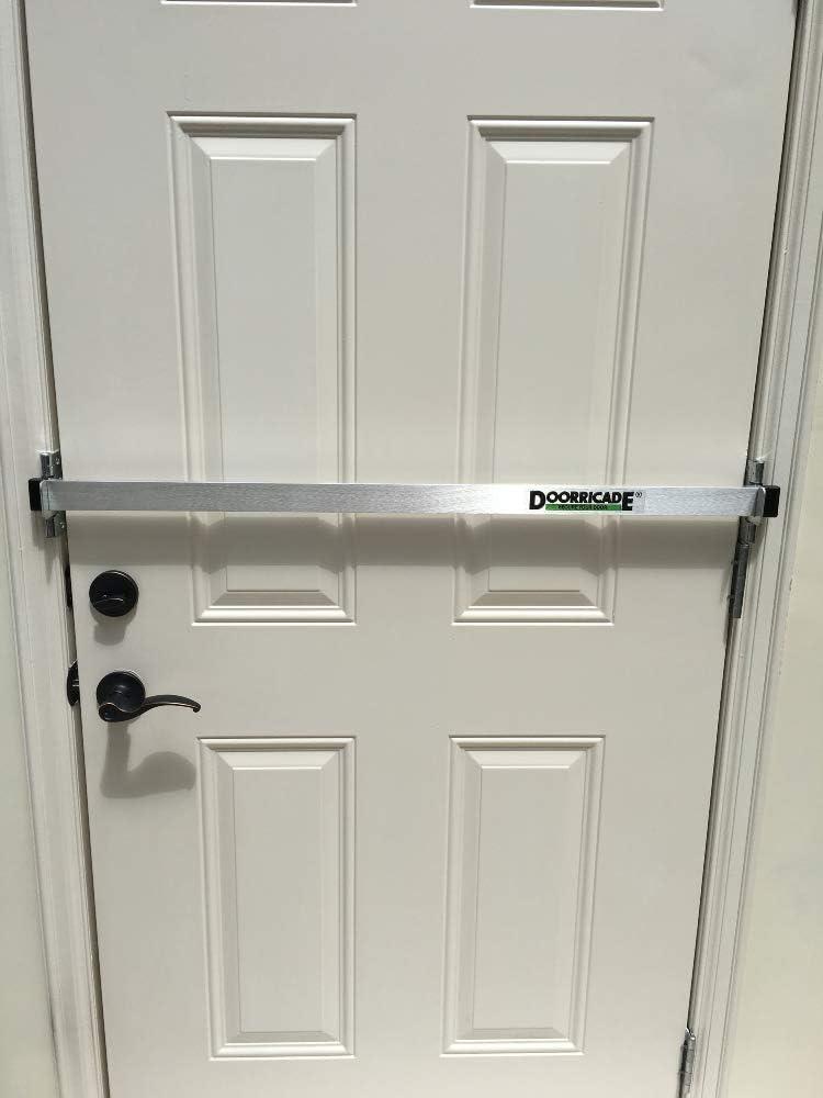 Doorricade Door Bar Best Protection Against Home Invasion Solid Aluminum Bar Hardware Locks Amazon Com