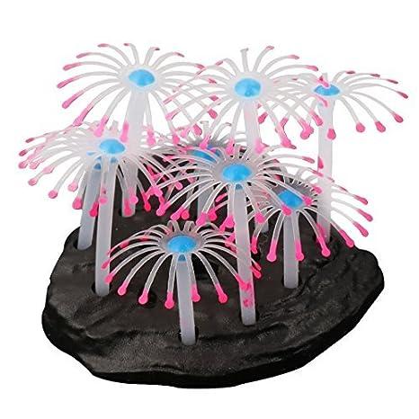 Ornamento planta Coral Artificial acuario de silicona DealMux base de plástico pecera: Amazon.es: Productos para mascotas