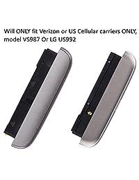 Altavoz timbre de módulo de altavoz + micrófono + tapa inferior Cap + tipo C puerto de carga USB de repuesto para LG G5 Verizon Carrier vs987 transportador de US Cellular us992 (Titan G