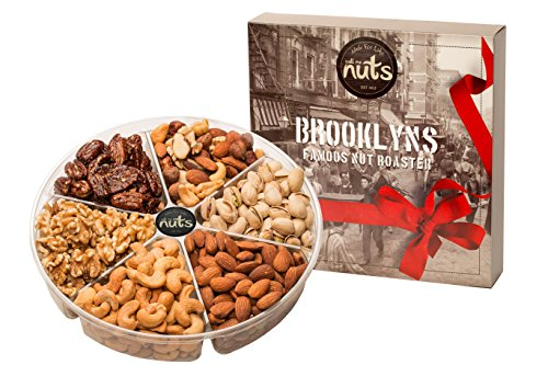 Call Me Nuts- Gourmet Gift Nuts Tray (2 Lb) Delicious, Kosher Salted Almonds, Cashews, Walnuts, Pistachios, Honey Glazed Pecans and Mixed Nuts. Perfect for Christmas and All Special Occasions (Gourmet Gift Baskets Review)