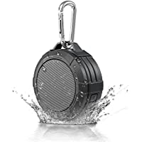 WEN V1 Wireless Bluetooth Speaker Portable Outdoor Waterproof for Hiking Travel Hands Free Call with Mic Connect with iPhone Android (Black)