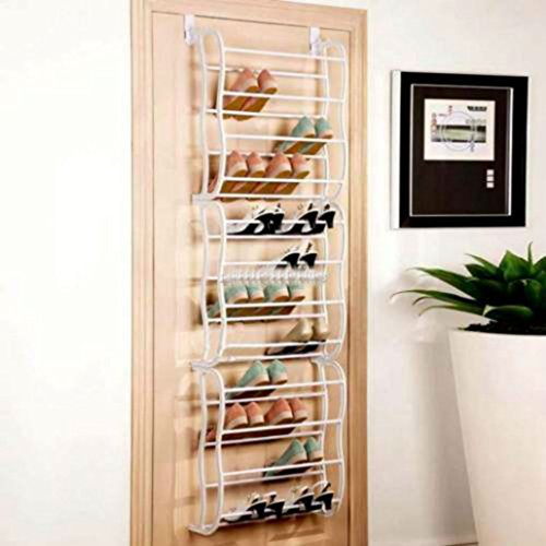 Durable Over-The-Door Hanging Shoe Holder Organizer Rack Holds 36-Pairs of Shoes from Unknown