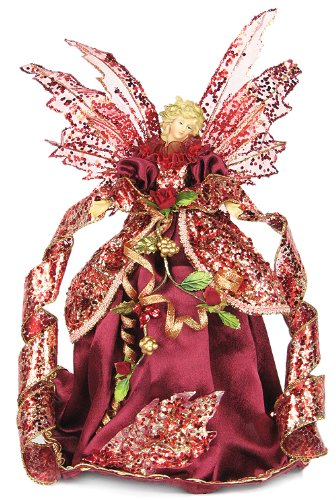 "12"" Angel Mini Flower Skirt Tree Topper"