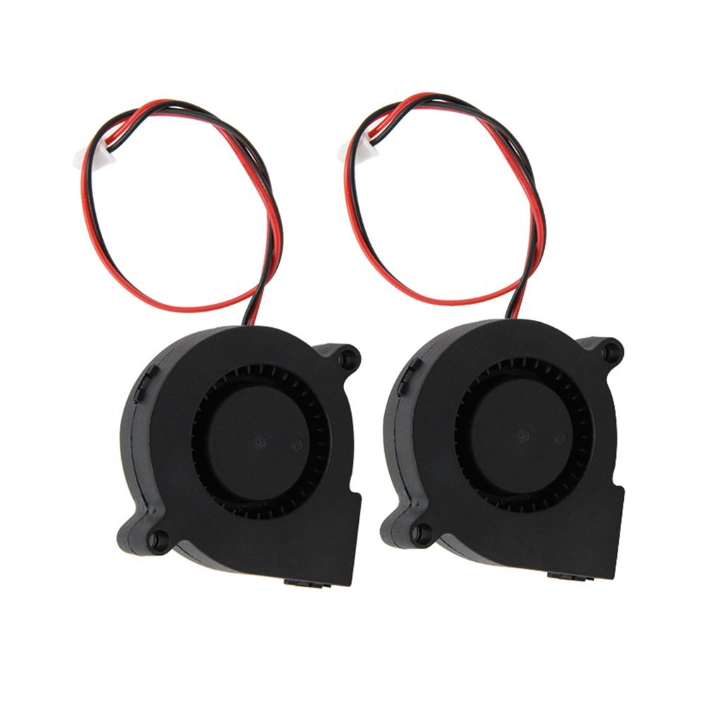 CCTREE 2PCS 12V 0.23A Blow Radial Fan Cooling Hot End Extruder for RepRap i3 3D Printer Creality CR-10 CC-Fan-5015