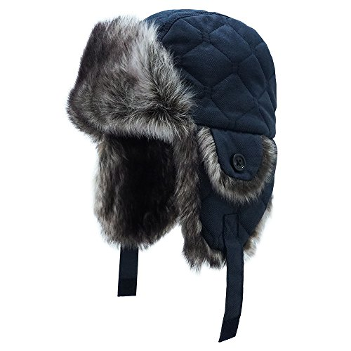 Keepersheep Baby Boy Ushanka Earflap Winter Trooper Hat Cap, Kids Trapper Hat (12-24 Months, Deep blue-02)