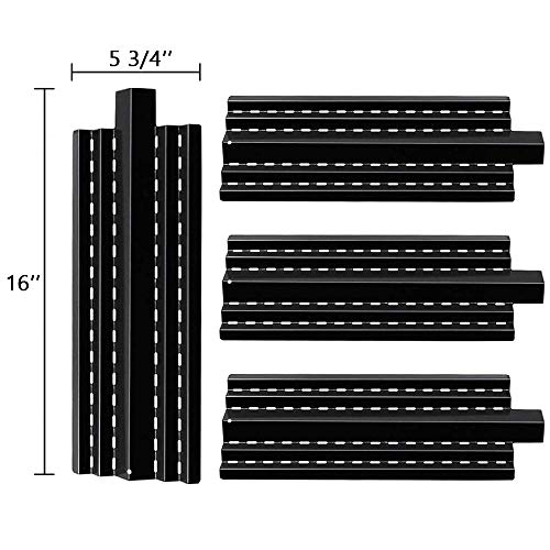 SHINESTAR Grill Heat Plates for Kenmore 415.16135110, 415.16644900, 415.16944010, 415.16042010 Replacement Parts, 4 Pack 16 inch Porcelain Steel Heat Shield Tent Flame Tamer BBQ Burner Cover(SS-HP036)