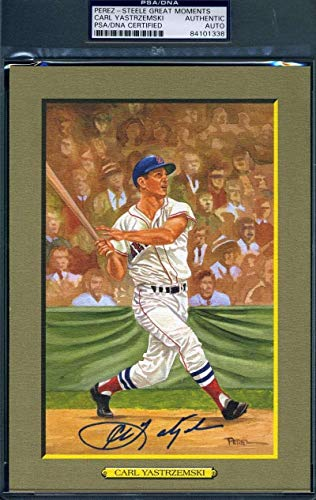 CARL YASTRZEMSKI Coa Autograph Perez Steele Great Moments Hand Signed PSA/DNA Certified Original MLB Art and Prints