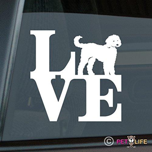 Mister Petlife Love Goldendoodle Sticker Vinyl Auto Window park doodle