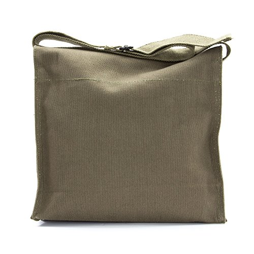 LGBT Love (Rainbow Heart) Army Heavyweight Canvas Medic Shoulder Bag in Olive & White by Grab A Smile (Image #4)