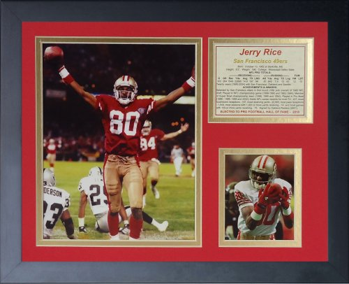 Legends Never Die Jerry Rice Touchdown Framed Photo Collage, 11x14-Inch
