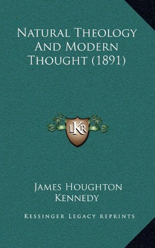 Natural Theology And Modern Thought (1891) ebook