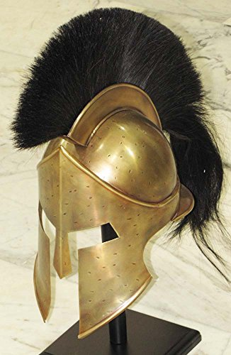 THORINSTRUMENTS (with device) Medieval Spartan Helmet King Leonidas 300 Movie Helmet Replica - Role Play Helm]()