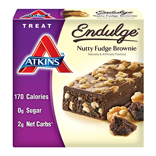 Atkins Endulge Treat  Nutty Fudge Brownie Bar  5 Bars