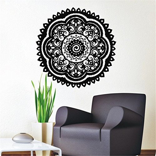 Vinyl Wall Art Inspirational Quotes and Saying Home Decor Decal Sticker Pinturas Murais Mandala Menhdi Lotus for Living Room -