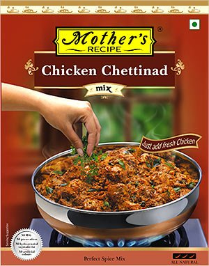 Mother's Recipe Spice Mix for Chicken Chettinad Masala - 80 Gms (3 Pack)