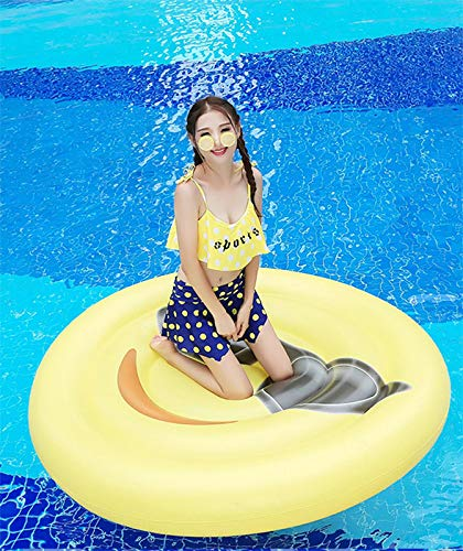 Giant Inflatable Emoji Cool Face Floating Row Adults Kids Summer Beach Toy Swimming Pool Party Lounge Round Raft-Yellow by WYL (Image #5)